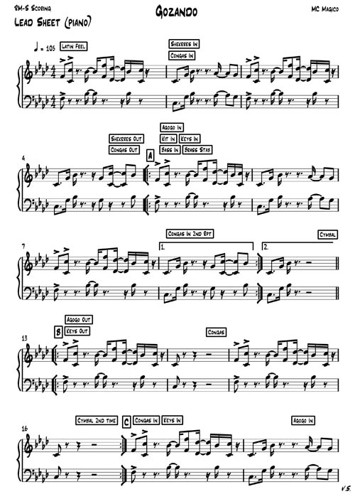 Gozando Sibelius Lead sheet (Piano) 30-7-2013-1